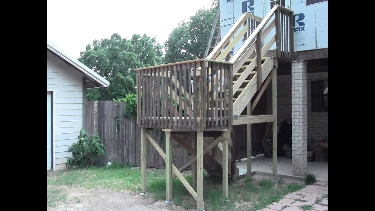 Deck Stair Construction Youtube