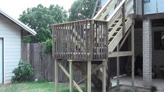 Deck Stair Construction