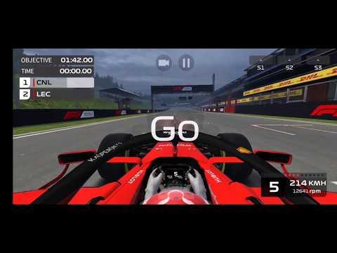 Belgium Grand Prix Event Qualification lap F1 Mobile Racing