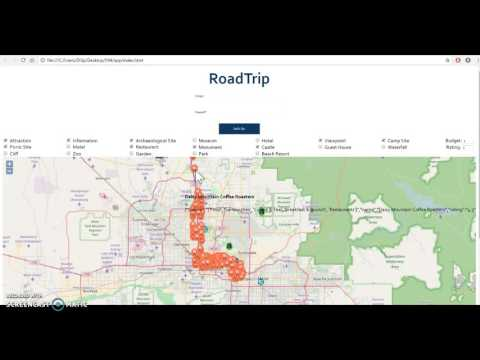 SER 594 Roadtrip - Application Demo (RDF triples, OSM, Yelp, DBPedia, Wikitravel)