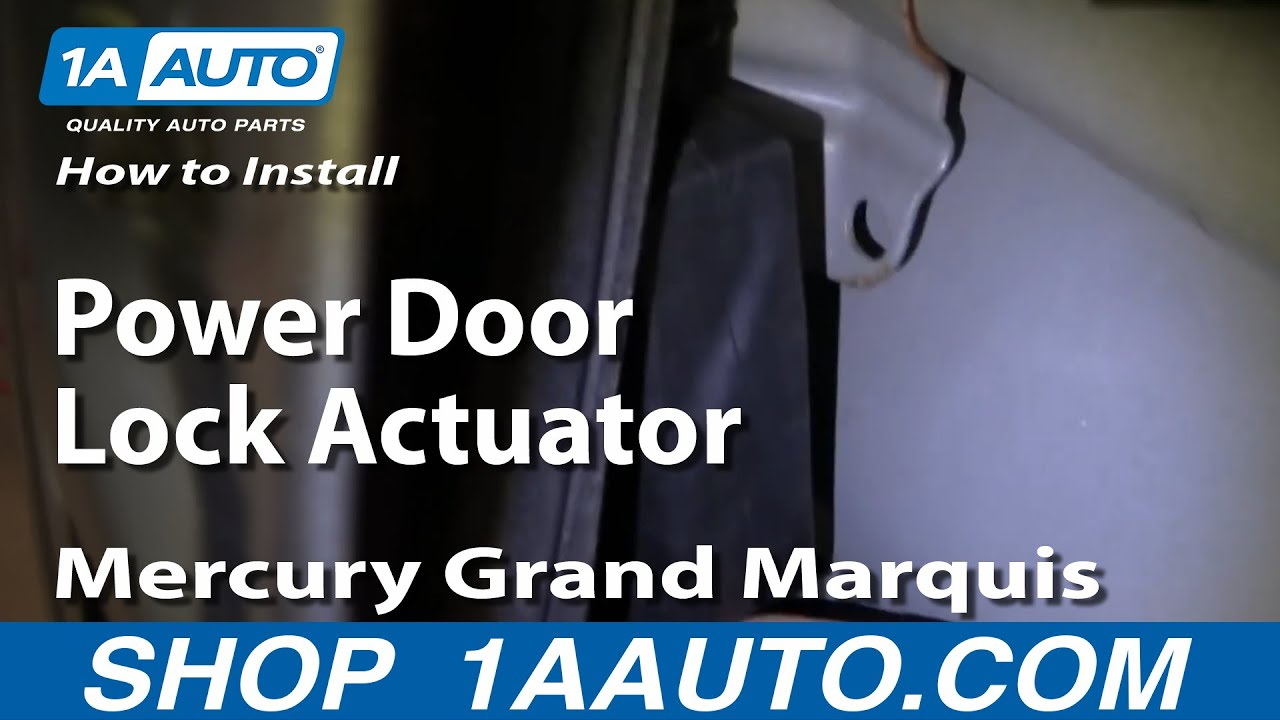 How To Replace Power Door Lock Actuator 92 03 Mercury