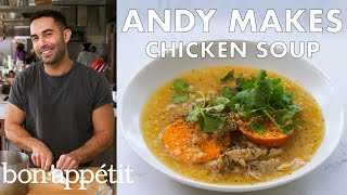 andy-makes-chicken-soup-with-sweet-potatoes-from-the-test-kitchen-healthyish-bon-apptit