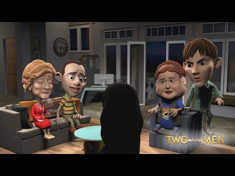 #TwoAndAHalfMen | Two and a half men animated scene