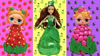 DIY Play Doh Disney Princess Fruit Dresses Makeup Ideas Learn How To Make Custom Dress For L.O. L