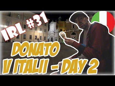 ツ DONATOLIVE - IRL #31|  Policajti jeli po zadních na motorce |   Donato v Taliansku - Day 2