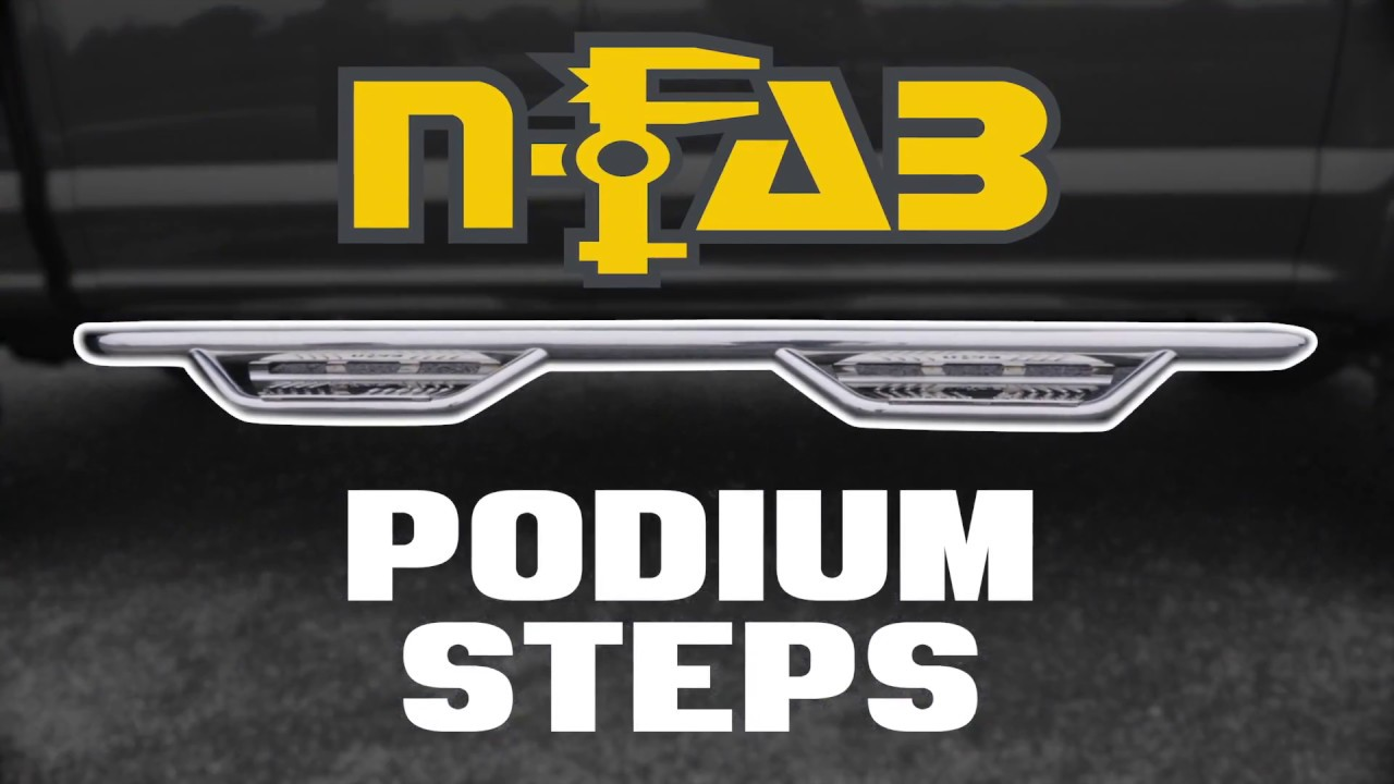 N-Fab HD Podium Nerf Steps Video - Stainless Steel