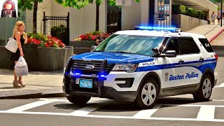 With its federal signal smartsiren using unitrol tones, this ford police interceptor easily clears traffic in downtown boston. most if not all of the ex...
