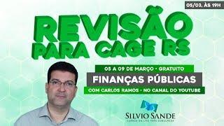 REVISÃO CAGE-RS: FINANÇAS PÚBLICAS COM CARLOS RAMOS