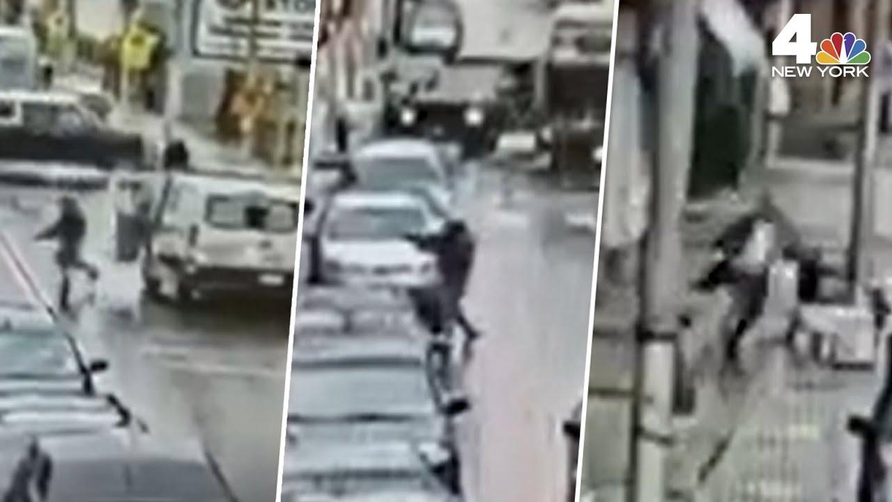 Jersey City Attack: Surveillance Video Shows Start of Shooting at Kosher Market  | NBC New York