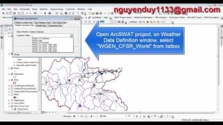 [SWAT] Import CFSR_World Weather Database into ArcSWAT_Weather Database