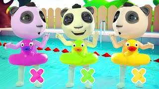 Долли и Друзья Учимся Плавать В Бассейне Игры и сюрпризы Правила купания Детские Песни Мультики