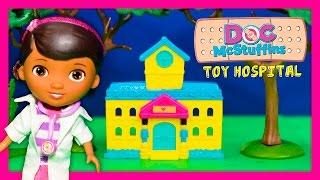 DOC MCSTUFFINS Disney Doc Toy Hospital with Lambie +Stuffy + Hallie New Toys Video