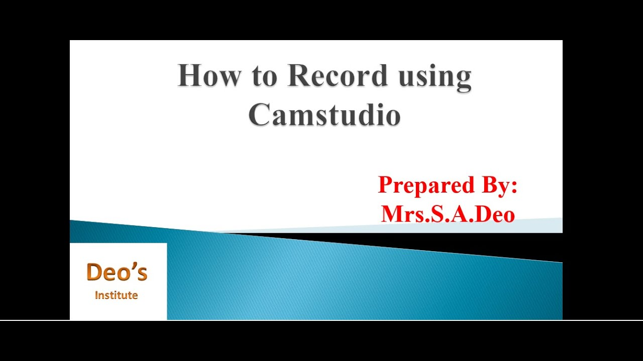 how to record camstudio with sound