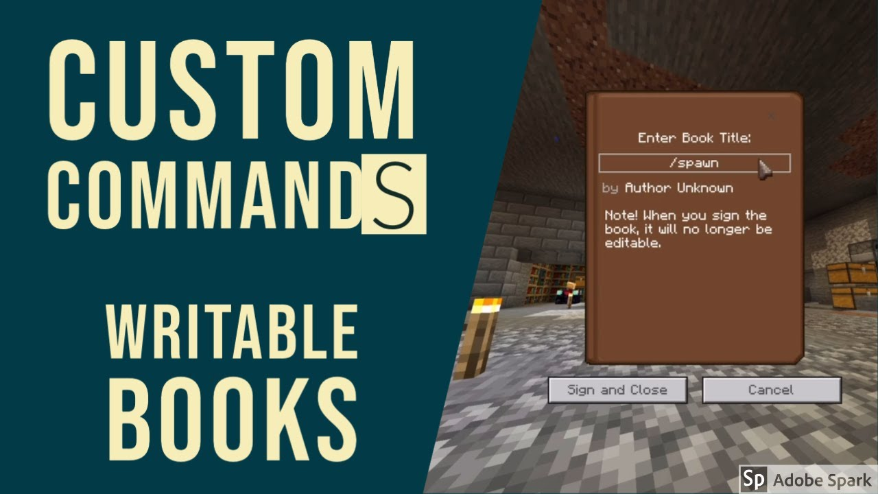 How To Create Custom Commands. Minecraft Bedrock.