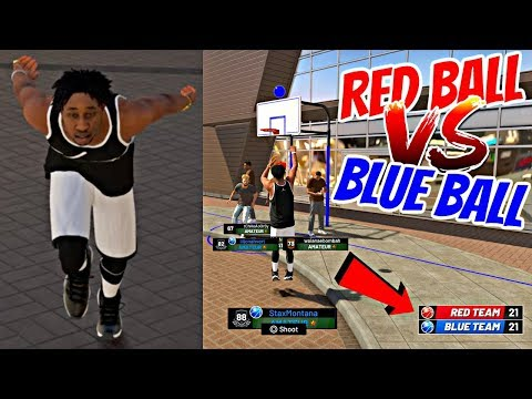 FIRST NBA 2K19 PLAYGROUNDS EVENT! RED BALL VS BLUE BALL BATTLE ROYALE GAME! - NBA 2K19 PLAYGROUNDS