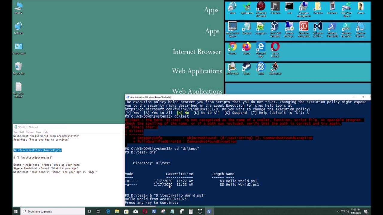 Cách Tạo Và Chạy Tệp Tập Lệnh PowerShell Trên windows 10
