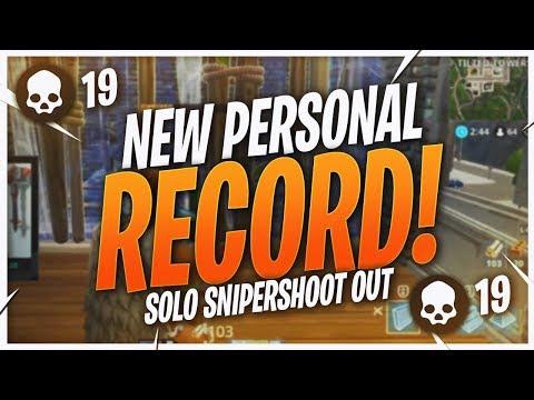 NEW PERSONAL RECORD! 18 KILL SNIPER SHOOTOUT (Fortnite BR Full Match)