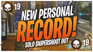 NEW PERSONAL RECORD! 18 KILL SNIPER SHOOTOUT (Fortnite BR Full Match)