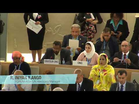 HRC36: FORUM-ASIA statement on the human rights situations in several Asian Countries