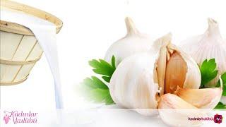 Sarımsaklı süt nasıl yapılır Sarımsaklı süt kürü