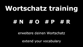 Learn German Unit 4 | Important and Useful Words | Core Vocabulary | German ⇔ English Audio ♫