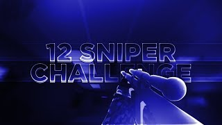 12 Sniper Trickshot Challenge!!!