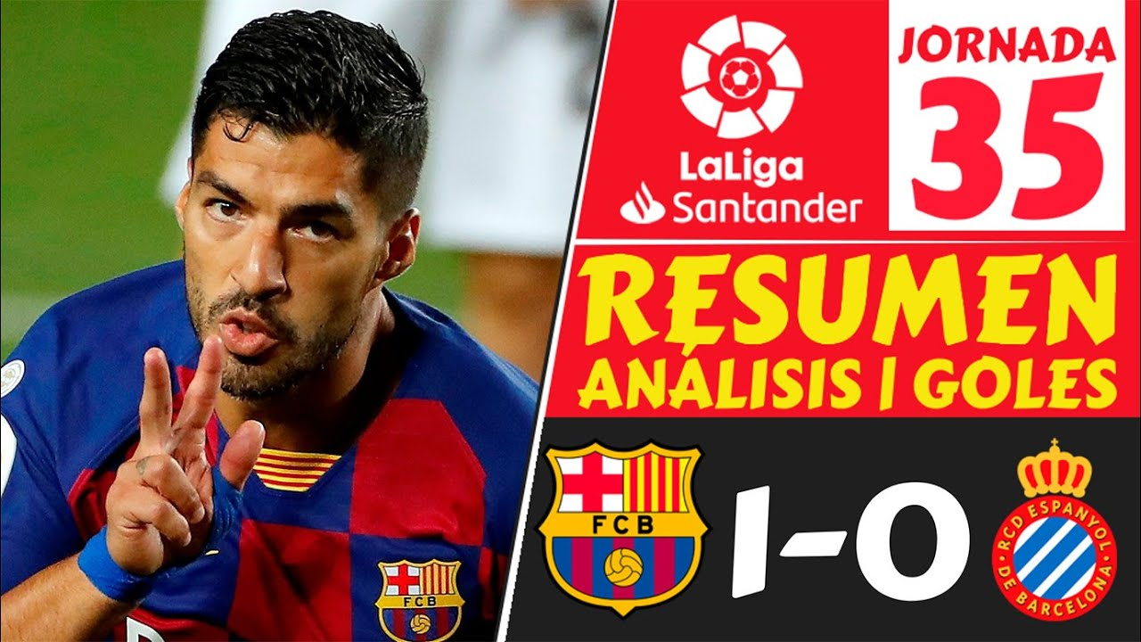 Resumen BARCELONA vs ESPANYOL 1-0 [Highlights GOLES jornada 35] Resultados LIGA ESPAÑOLA hoy 2020 🔥