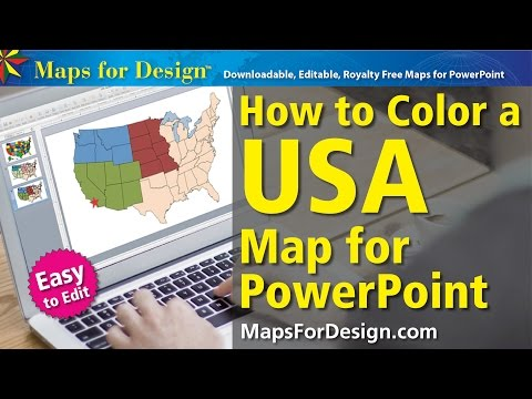 How to Color a Canadian Province Map for a PowerPoint Presentation
