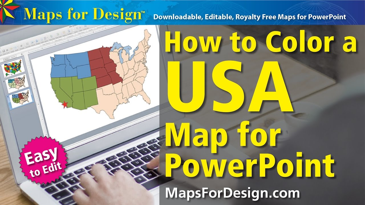 how to color a usa map for making sales territories youtube