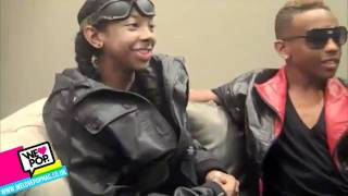 Mindless Behavior: We Heart Pop Interview - RayRay Breaks His Arm, Princeton laughs!