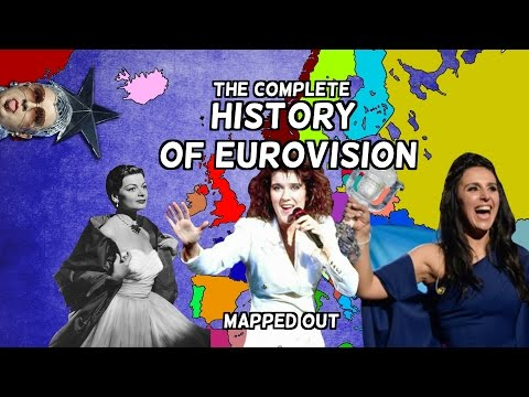 The Complete History of Eurovision  19562017  Mapped Out  Every Year, Country and Winning Song
