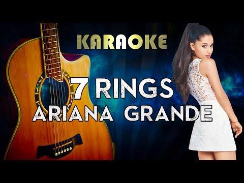 Ariana Grande - 7 rings Acoustic Guitar Karaoke Instrumental