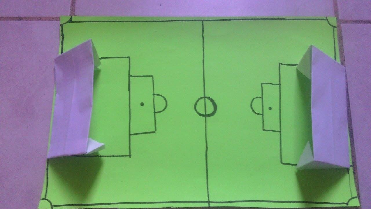 Como hacer una cancha de ftbol de papel  YouTube