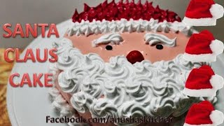 Eggless Santa Claus Cake  || Best Chocolate Cake for Christmas | last minute recipe for party