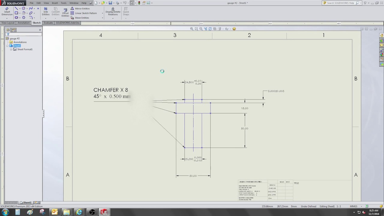 Save solidworks drawing to autocad - solidworks - video 135