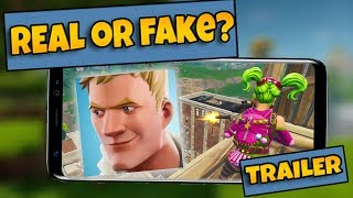 Fortnite Android - Fortnite Mobile Trailer!! (REAL OR FAKE?)