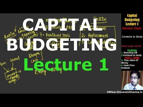 Capital Budgeting | Lecture 1 |CA IPCC | By Shivansh Sharma | CMA| MBA| CS| Bcom
