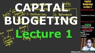 Capital Budgeting   Lecture 1  CA IPCC   By Shivansh Sharma   CMA  MBA  CS  Bcom