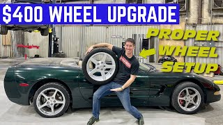 $400 In WHEELS Made The Rat Infested Corvette Look INCREDIBLE
