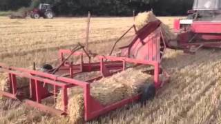 case ih 785xl baling with ih b 47 baler and flat 8 sledge