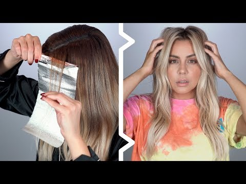 Pro Balayage Tutorial at home - Step by Step How I do My Hair - YouTube