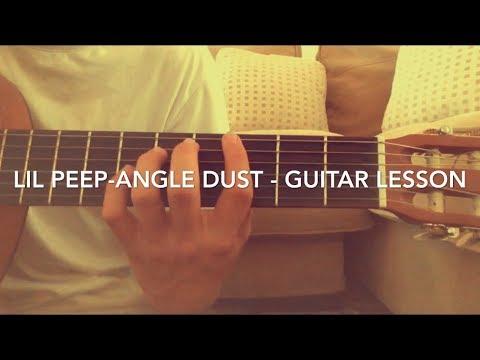 Lil peep - Angeldust - guitar tutorial / lesson (easy chords)