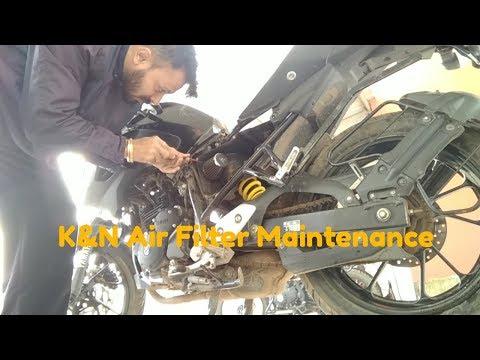 K&N Air Filter Maintenance || Recharge Kit || Yamaha FZ 25