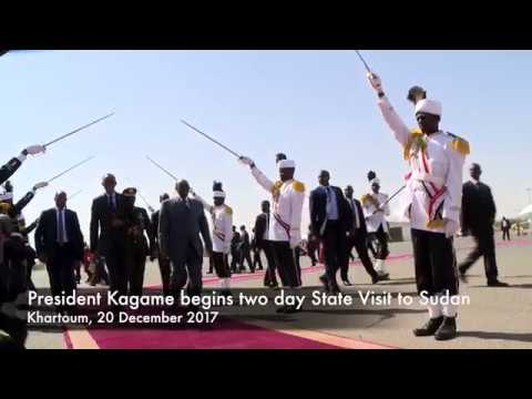 President Kagame begins two day State Visit to Sudan   Khartoum, 20 December 2017.
