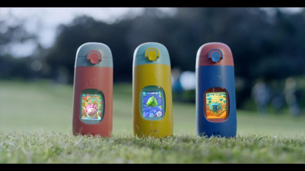 048f0d5735 Gululu Go, The Interactive Water Bottle - YouTube