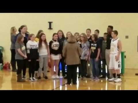 East Prairie Middle School National Anthem Singers