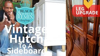 Vintage hutch to a sideboard makeover