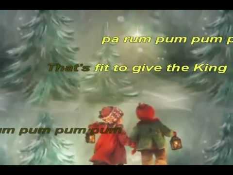 Little Drummer Boy - Animated Christmas Karaoke
