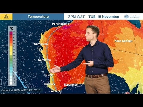 ⚠Weather Update: Dangerous Fire Weather Conditions For Western Australia, 14 November 2016