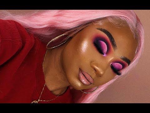 Valentines Day Pink Smoky Cut Crease Makeup Look   MakeupTiffanyJ